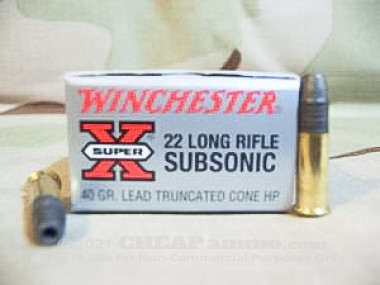 Winchester - Hollow Point - 40 Grain 22 Long Rifle Ammo - 500 Rounds