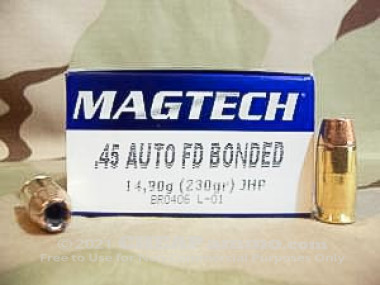 Magtech - Jacketed Hollow Point - 230 Grain 45 ACP Ammo - 50 Rounds