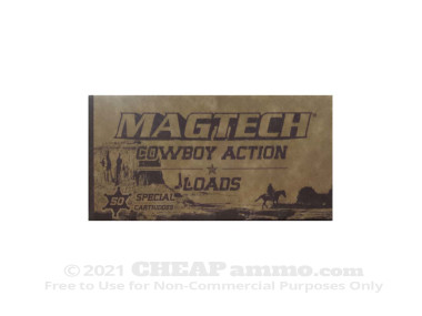 Magtech Cowboy Action Lead Flat Nose 158 Grain 38 Special Ammo - 1000 Rounds