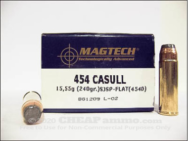 Magtech - Semi Jacketed Soft Point - 240 Grain 454 Casull Ammo - 20 Rounds