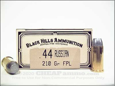 Black Hills Ammunition - Lead Flat Nose - 210 Grain 44 Russian Ammo - 50 Rounds