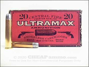 Ultramax - Lead Round Nose - 405 Grain 45-70 Government Ammo - 20 Rounds