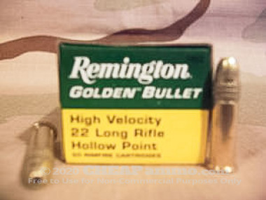 Remington - Hollow Point - 36 Grain 22 Long Rifle Ammo - 50 Rounds