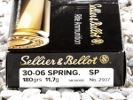 Sellier & Bellot - Soft Point - 180 Grain 30-06 Ammo - 400 Rounds