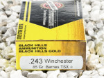 Black Hills Gold Ammunition TSX 85 Grain 243 Winchester Ammo - 20 Rounds