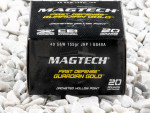 Magtech - Jacketed Hollow Point - 155 Grain 40 Smith & Wesson Ammo - 20 Rounds