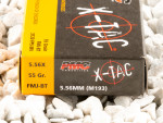 PMC - Full Metal Jacket - 55 Grain 5.56x45mm Ammo - 20 Rounds