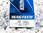 Magtech - Lead Round Nose - 146 Grain 38 Smith & Wesson Ammo - 50 Rounds