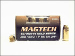 Magtech - Jacketed Hollow Point - 85 Grain 380 Auto Ammo - 20 Rounds