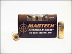 Magtech - Jacketed Hollow Point - 180 Grain 40 Smith & Wesson Ammo - 20 Rounds