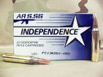Independence - Full Metal Jacket - 55 Grain 5.56x45mm Ammo - 20 Rounds