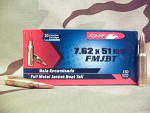 Aguila - Full Metal Jacket - 150 Grain 308 Winchester  Ammo - 20 Rounds