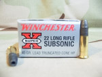 Winchester Lead Hollow Point (LHP) 40 Grain 22 Long Rifle (LR)  Ammo - 50 Rounds