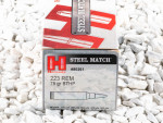 Hornady Steel Match Hollow-Point Boat Tail (HP-BT) 75 Grain 223 Remington Ammo - 50 Rounds