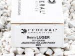 Federal Hi-Shok Jacketed Hollow-Point (JHP) 147 Grain 9mm Luger (9x19) Ammo - 50 Rounds