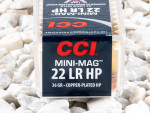 CCI Copper-Plated Hollow-Point (CPHP) 36 Grain 22 Long Rifle (LR)  Ammo - 5000 Rounds
