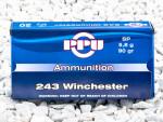 Prvi Partizan - Soft Point - 90 Grain 243 Winchester Ammo - 20 Rounds