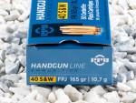 Prvi Partizan - Full Metal Jacket Flat - 165 Grain 40 Smith & Wesson Ammo - 500 Rounds