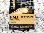 Sellier & Bellot - Full Metal Jacket - 158 Grain 38 Special Ammo - 50 Rounds