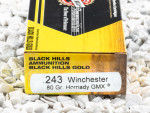 Black Hills Gold Ammunition Polymer Tipped 80 Grain 243 Winchester Ammo - 20 Rounds