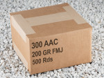 Black Friday Special - 300 AAC Blackout 200 Gr FMJ Subsonic Ammo - 500 Rounds