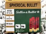 Sellier & Bellot - #00 Buck - 000 Buck 410 Gauge Ammo - 25 Rounds