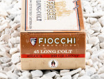 Fiocchi - Lead Round Nose Flat Point - 250 Grain 45 Long Colt Ammo - 500 Rounds