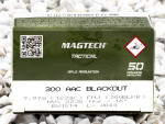 Magtech Full Metal Jacket (FMJ) 123 Grain 300 AAC Blackout  Ammo - 50 Rounds