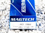 Magtech - Full Metal Jacket Flat - 180 Grain 40 Smith & Wesson Ammo - 1000 Rounds