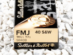 Sellier & Bellot - Full Metal Jacket - 180 Grain 40 Smith & Wesson Ammo - 50 Rounds