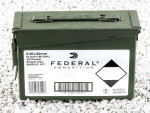 Federal Full Metal Jacket Boat Tail (FMJ-BT) 55 Grain 5.56x45mm  Ammo - 420 Rounds