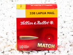 Sellier & Bellot - Hollow Point Boat Tail - 250 Grain 338 Lapua Magnum Ammo - 10 Rounds