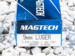 Magtech - Jacketed Soft Point - 124 Grain 9mm Luger Ammo - 50 Rounds