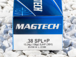Magtech - Semi Jacketed Hollow Point - 158 Grain 38 Special +P Ammo - 50 Rounds