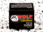 Wolf Full Metal Jacket (FMJ) 122 Grain 7.62X39  Ammo - 20 Rounds