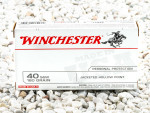 Winchester Jacketed Hollow-Point (JHP) 180 Grain 40 Smith & Wesson  Ammo - 500  Rounds