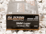 CCI - Full Metal Jacket - 115 Grain 9mm Luger Ammo - 1000 Rounds