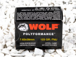 Wolf Full Metal Jacket (FMJ) 123 Grain 7.62X39  Ammo - 1000 Rounds