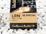 Sellier & Bellot - Lead Round Nose - 158 Grain 38 Special Ammo - 50 Rounds