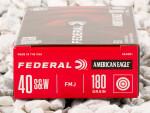 40 S&W - 180 Grain FMJ - Federal American Eagle - 50 Rounds