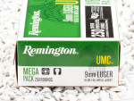 Remington - Full Metal Jacket - 115 Grain 9mm Luger Ammo - 1000 Rounds