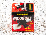 Federal American Eagle Full Metal Jacket (FMJ) 230 Grain 45 ACP (Auto)  Ammo - 50 Rounds (Trayless)