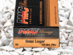 PMC - Full Metal Jacket - 124 Grain 9mm Luger Ammo - 50 Rounds