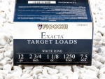 "Fiocchi White Rino #7-1/2 Shot 2-3/4"" 1-1/8 oz. 12 Gauge  Ammo - 250 Rounds"