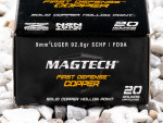Magtech - Solid Copper Hollow Point - 92.6 Grain 9mm Luger Ammo - 20 Rounds