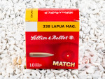 Sellier & Bellot - Hollow Point Boat Tail - 300 Grain 338 Lapua Magnum Ammo - 10 Rounds