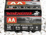 """Winchester AA Sporting Clays 2-3/4"""" #8 Shot 1-1/8 oz. 12 Gauge Ammo - 250 Rounds"""