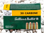 Sellier & Bellot - Soft Point - 110 Grain 30 Carbine Ammo - 50 Rounds