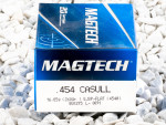 Magtech - Semi Jacketed Soft Point - 260 Grain 454 Casull Ammo - 20 Rounds