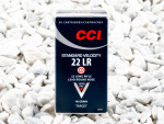 CCI - Lead Round Nose - 40 Grain 22 Long Rifle Ammo - 500 Rounds
